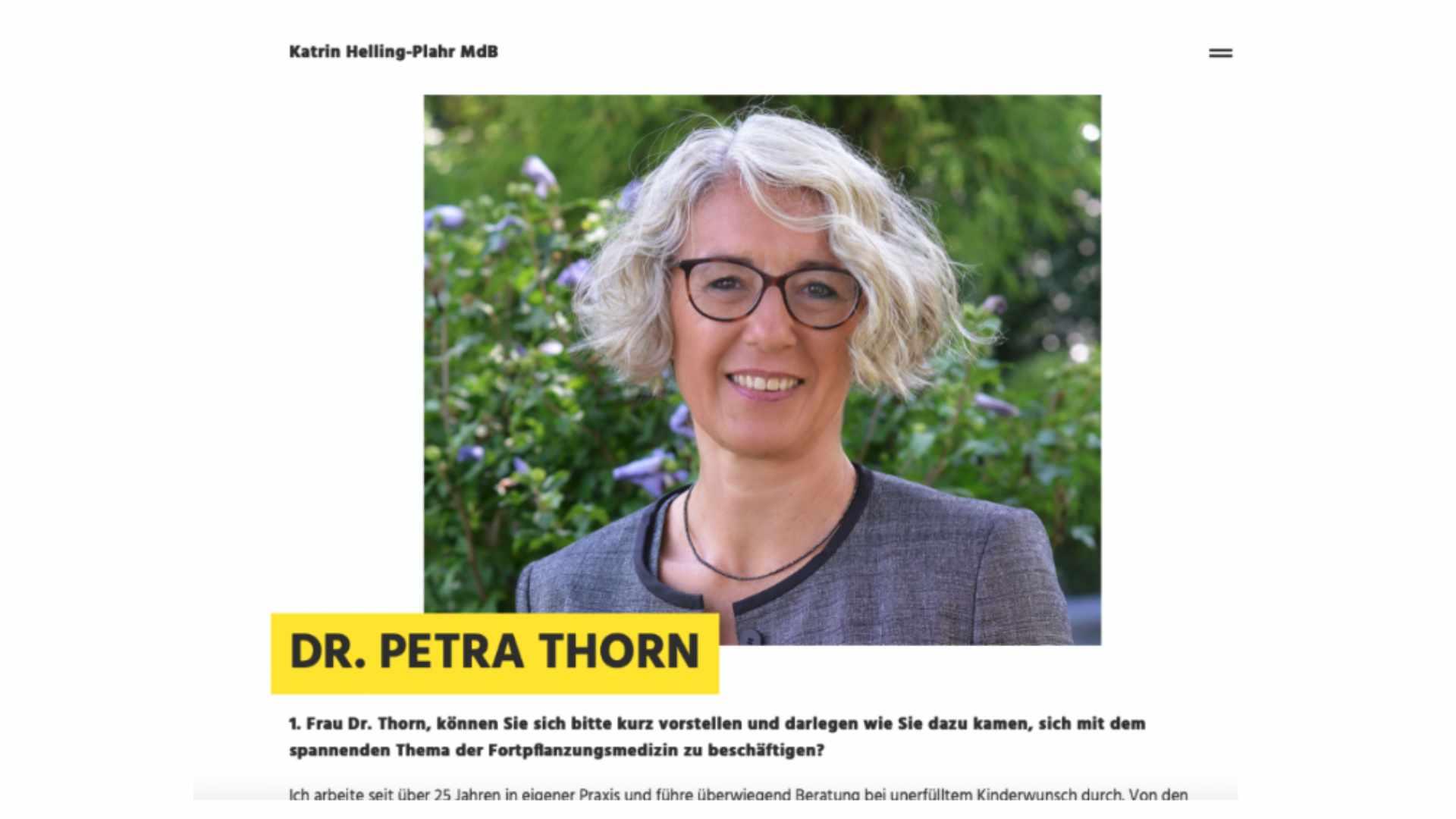 Petra Thorn gibt ein Interview