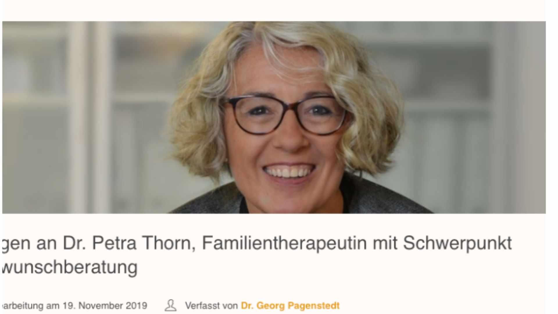 10 Fragen an Petra Thorn